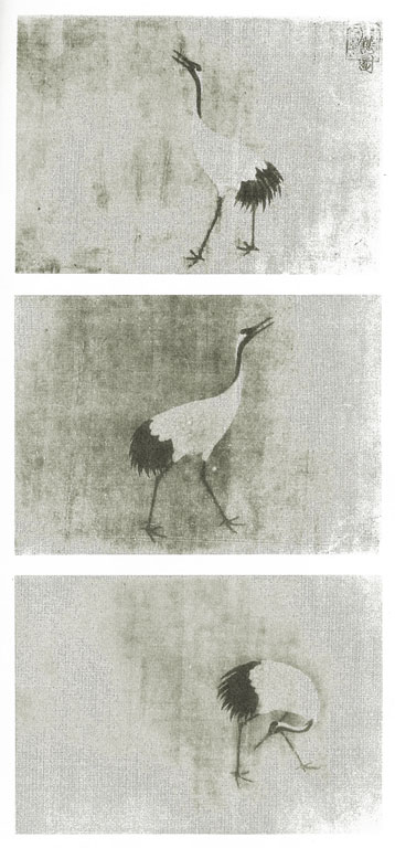 Three more cranes in different postures
