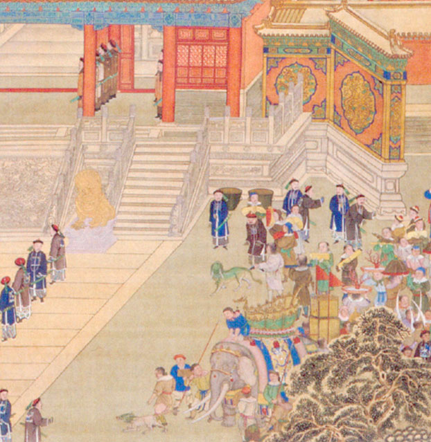 Detail of the lower-right of the above painting