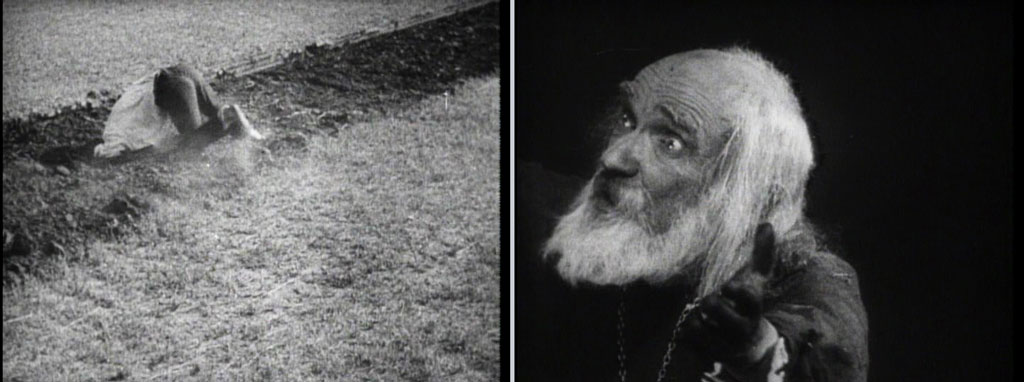 two stills from Dovzhenko's Earth