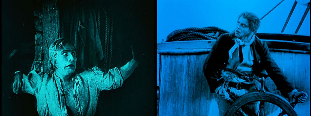 two stills from Nosferatu