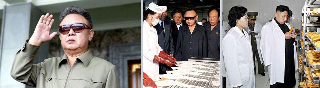 Triptych: Kim Jong-il and Kim Jong-un