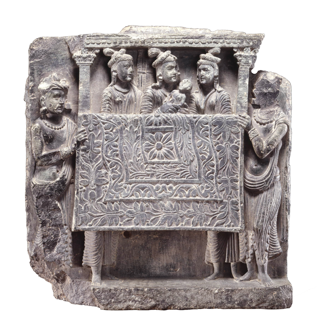 narrative art between and the hellenistic world taddei museum caption gandhara school the return to kapilavastu 1st 2nd century found at swat valley london british museum 1972 0920 1