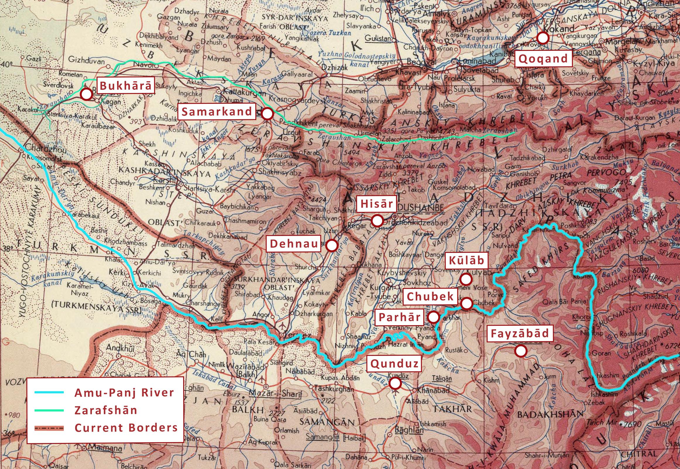 Map of Eastern Bukhara