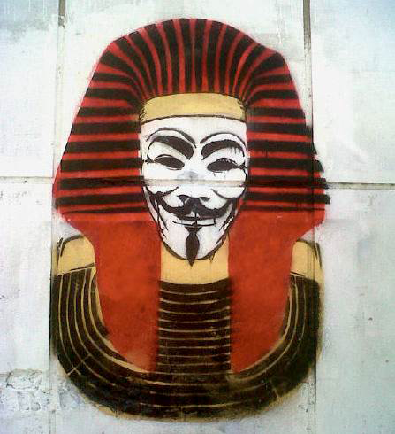 Marwan Shahin, Guy Fawkes mask Anonymous