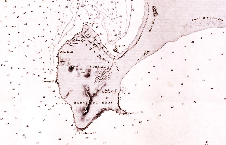 Map of Hakodate, ca. 1810