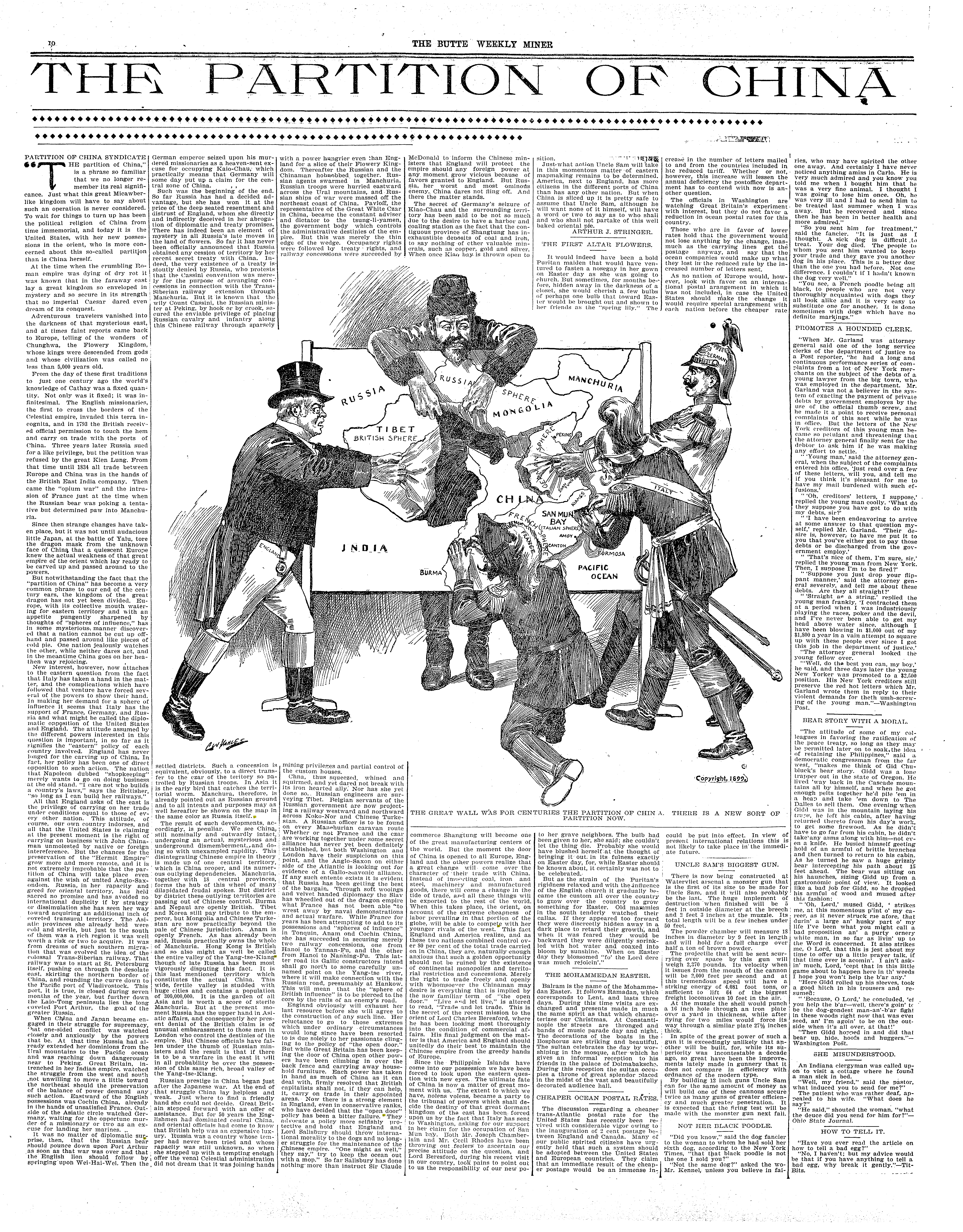 """""""The Partition of China,"""" The Butte Weekly Miner"""