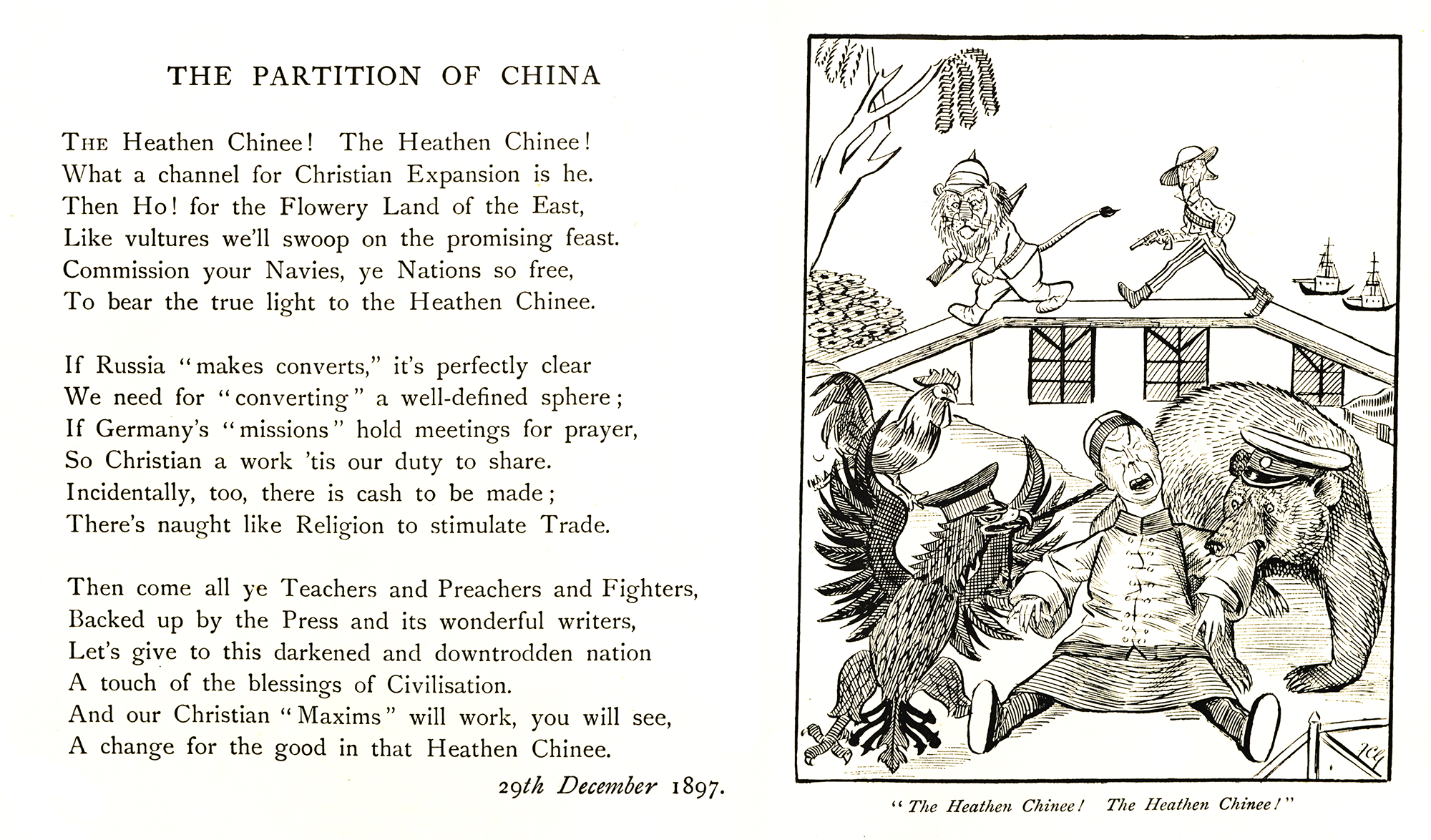 The Partition of China. British satirical poem by Sir Wilfrid Lawson