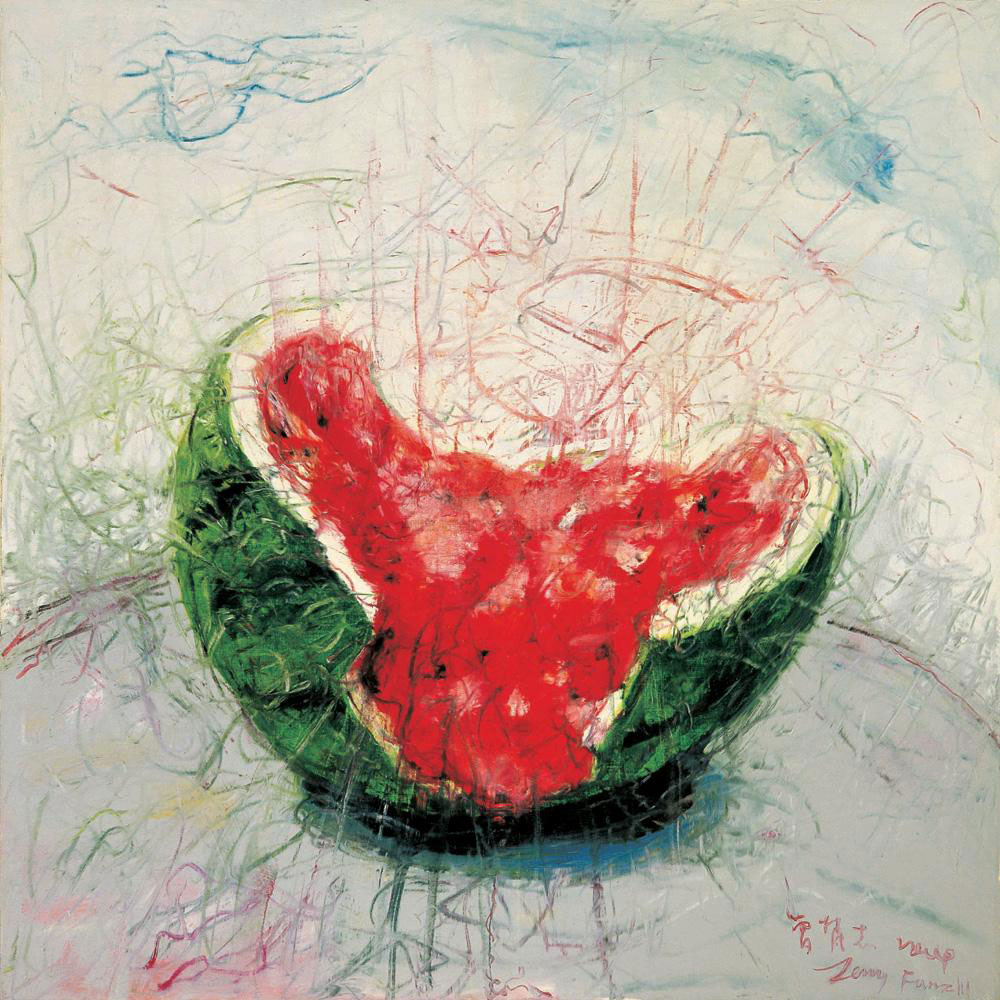 Zeng Fanzhi 曾梵志, Xigua 西瓜 [Watermelon]