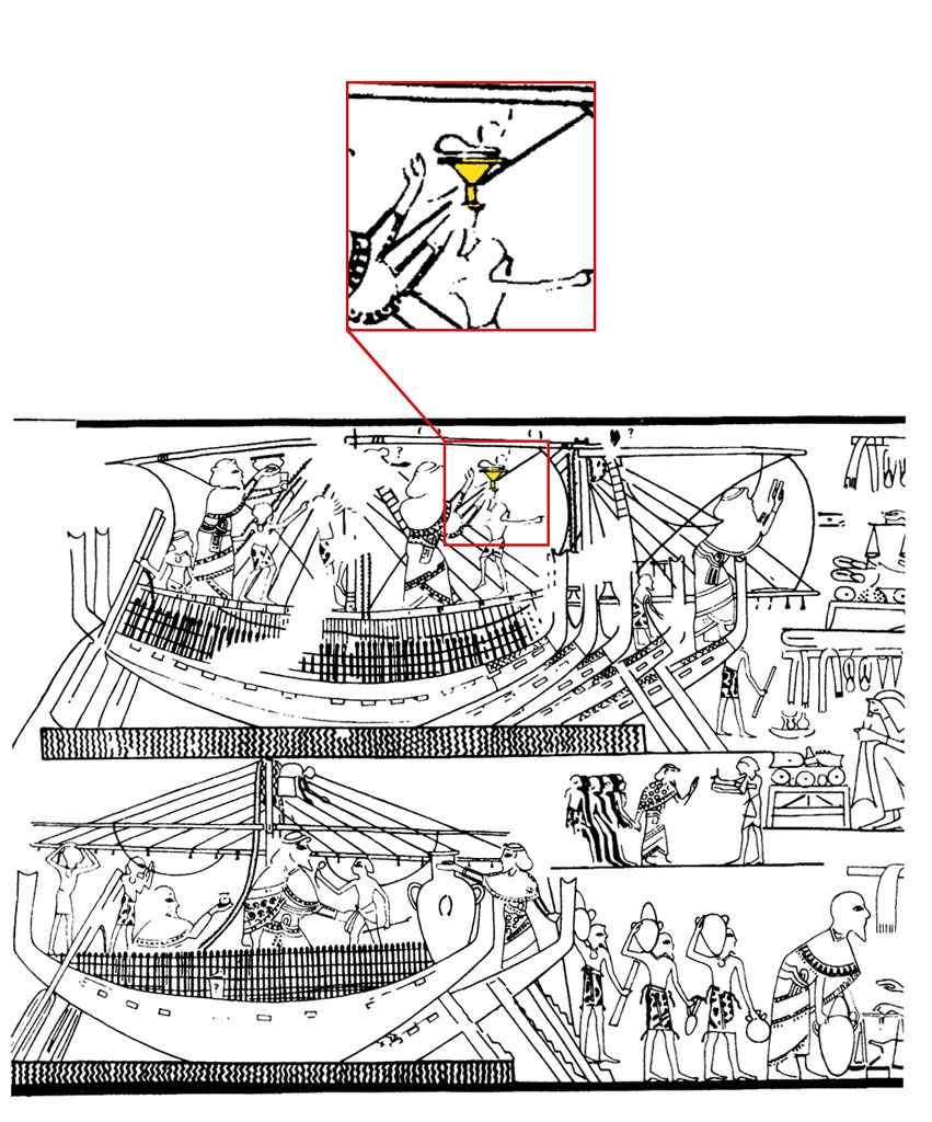 Line drawing, Canaanite ships