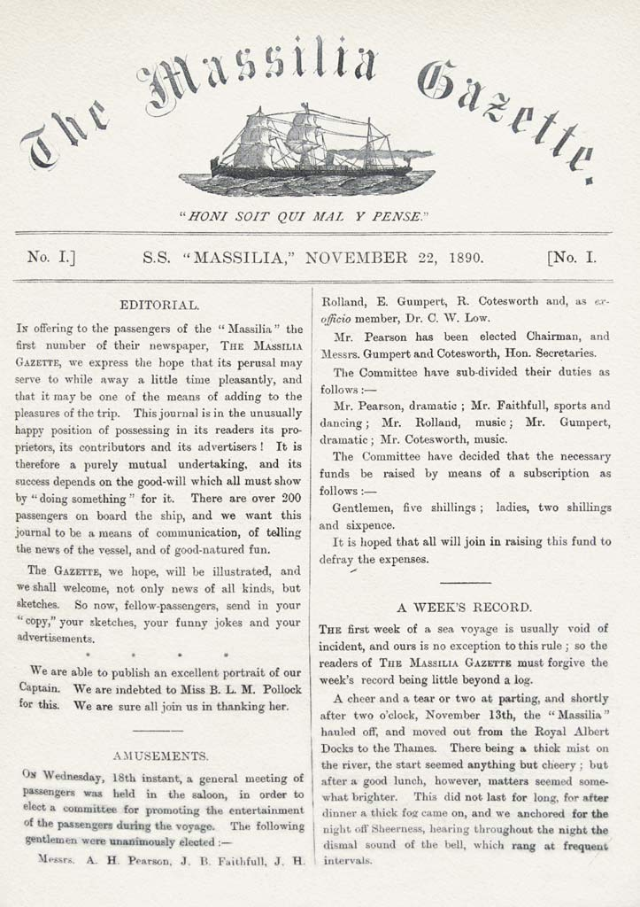 Firstpage of the Massilia