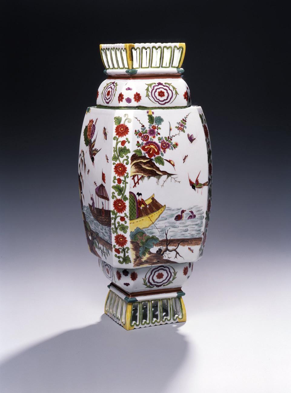 "Bohemian/czech Adaptable Vr Czech Bohemian Glass Vase Multi Coloured Handmade Mint Condition 9"" Tall Demand Exceeding Supply"